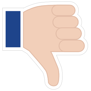 Hands Thumbs Down RH Emoji Sticker