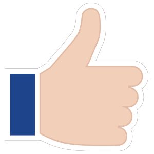 Hands Thumbs Up RH Emoji Sticker