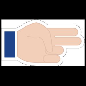 Hands Two Fingers Emoji Sticker
