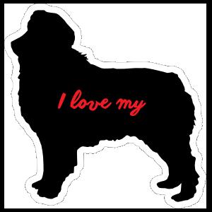 Handwritten I Love My Australian Shepherd Silhouette  Magnet