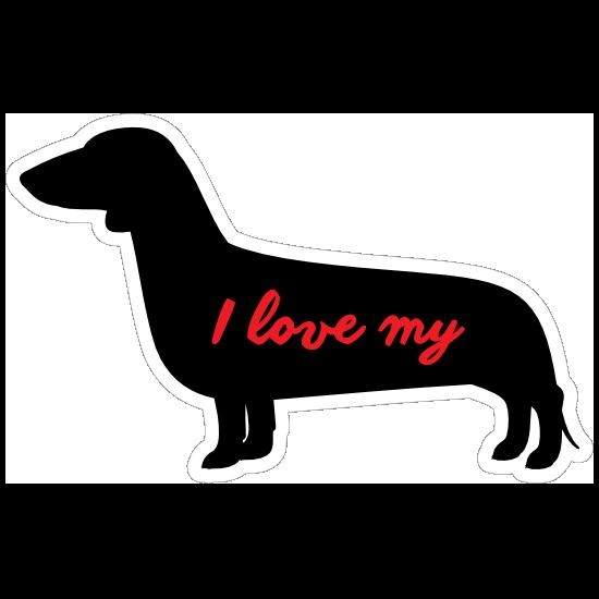 The More I Love My Dachshund  Dog Vinyl Car Van Sticker