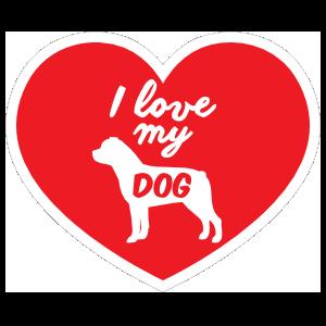 Handwritten I Love My Rottweiler Heart Magnet
