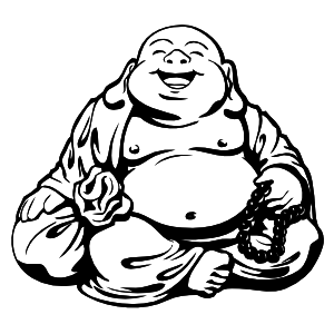 Happy Buddha Sticker