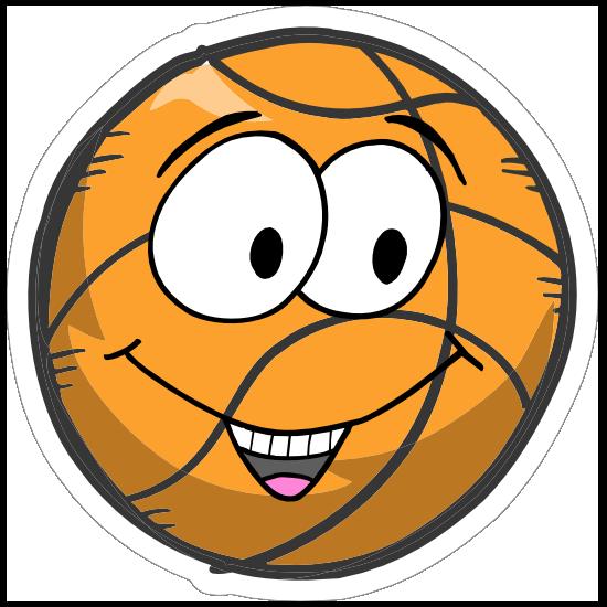 Happy Emoji Basketball Sticker