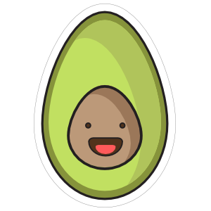 Happy Little Avocado Sticker
