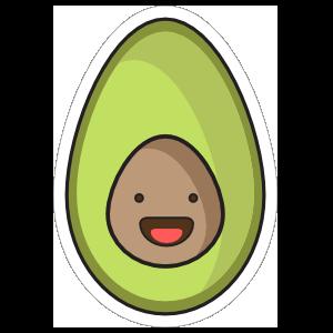 Happy Little Avocado Sticker