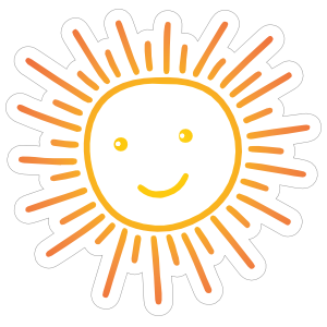 Happy Sun Sticker