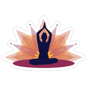 Harmonious Yoga Sticker