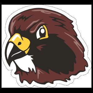 Hawk Head Mascot Sticker