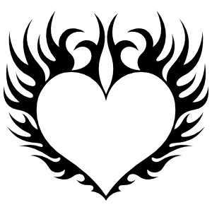 Heart in Flames Sticker