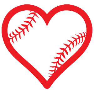 Heart With Seams Baseball Or Softball Sticker