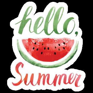 Hello Summer Watermelon Sticker