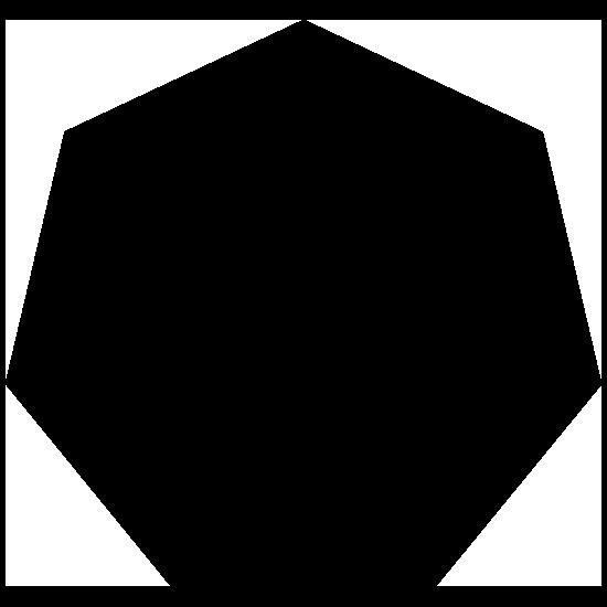 Heptagon Shape Sticker