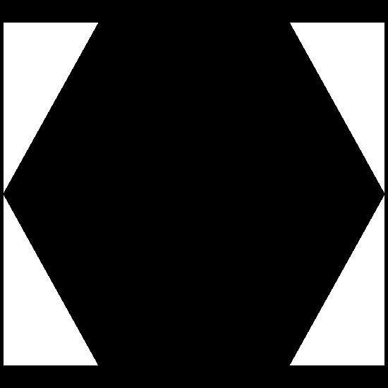 Hexagon Shape Sticker