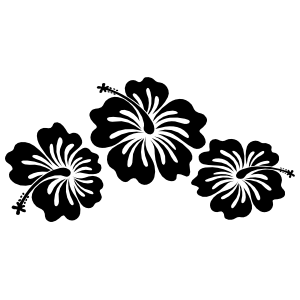 Three Hibiscus Flowers Corner Sticker