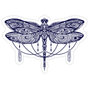 Hippie Dragonfly Sticker