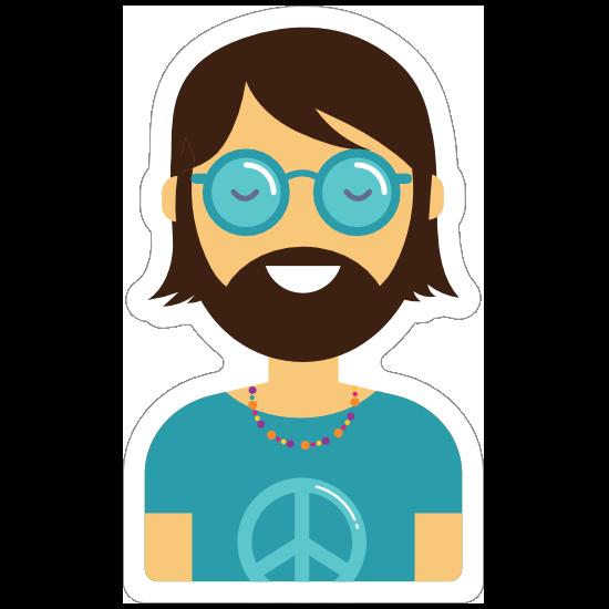 Hippie Guy Sticker