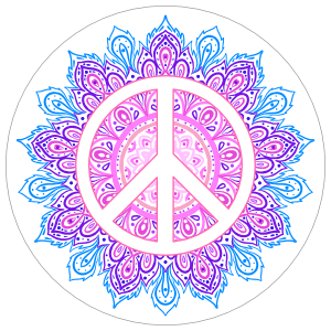 Hippie Peace Sticker