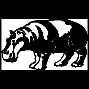 Detailed Hippopotamus Sticker