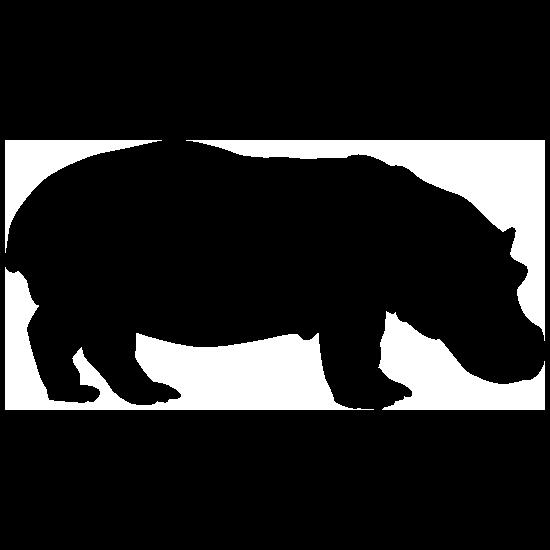 Short Hippopotamus Sticker