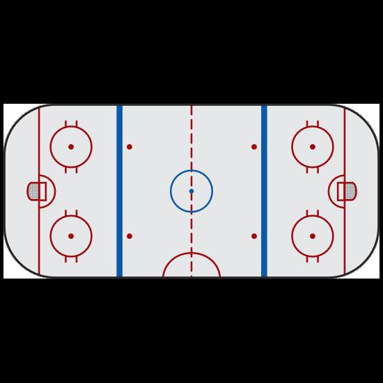 Hockey Ice Rink Sticker