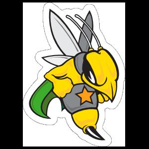 Hornets Mascot Sticker