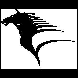 Muscular Horse Head Sticker