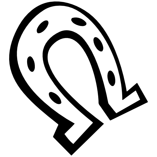 Standard Horseshoe Sticker