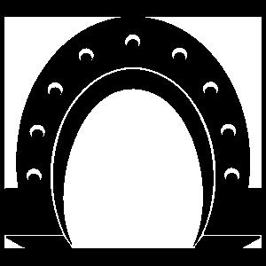 Brawny Horseshoe Sticker