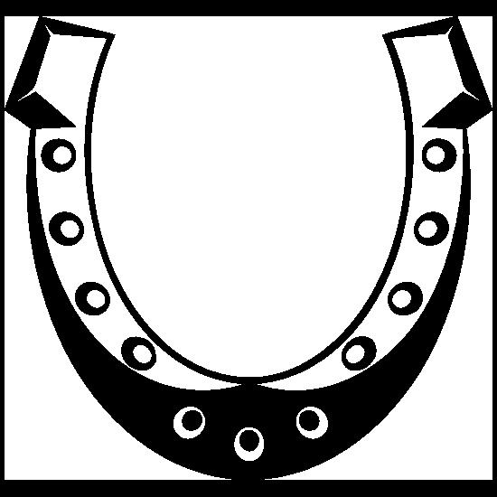 Studded Horseshoe Sticker