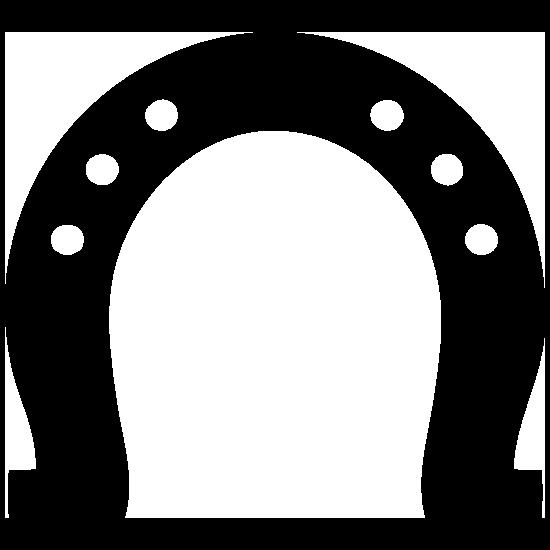 Horseshoe With Six Dots Sticker