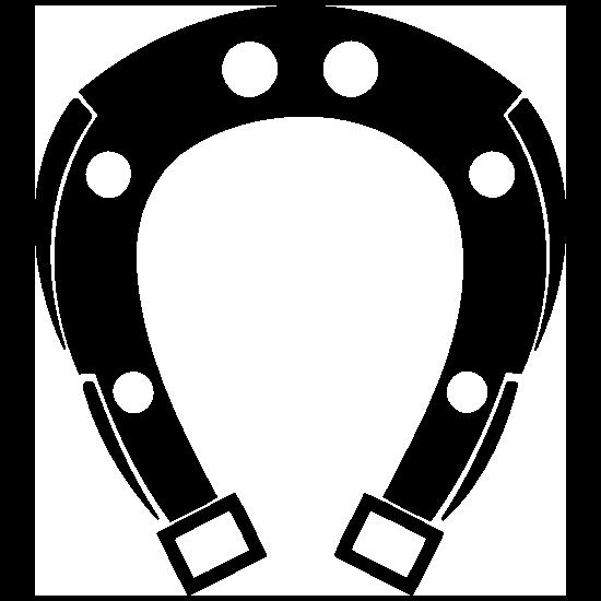 Horseshoe With Narrow Bottom Sticker