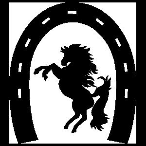 Horseshoe With Horse Sticker