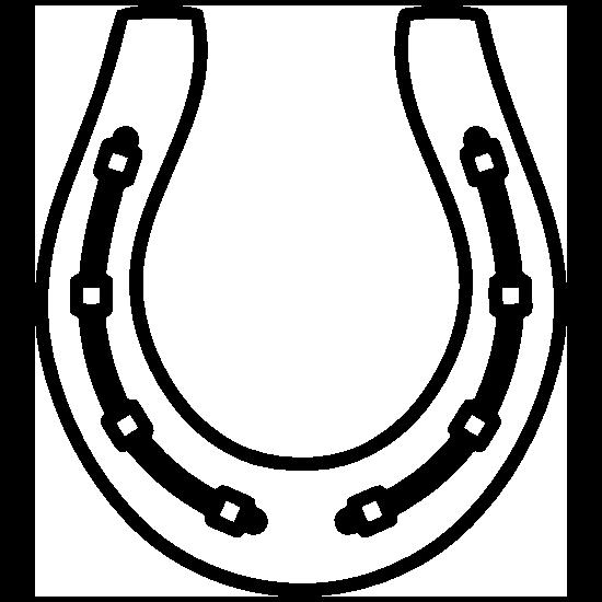 Belted Horseshoe Sticker