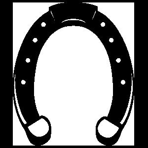 Spirited Horseshoe Sticker