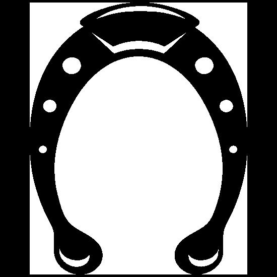 Horseshoe With Dots Sticker