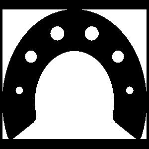 Arched Horseshoe Sticker