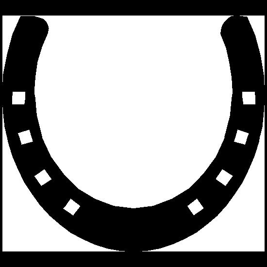 Horseshoe With Squares Sticker