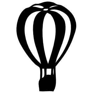 Striped Hot Air Balloon Sticker