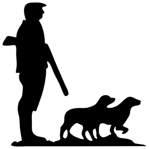 Hunter And Dogs Sticker
