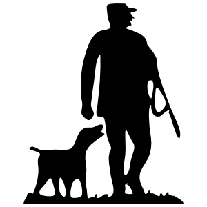 Hunter And Dog Sticker
