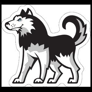 Husky Mascot Sticker
