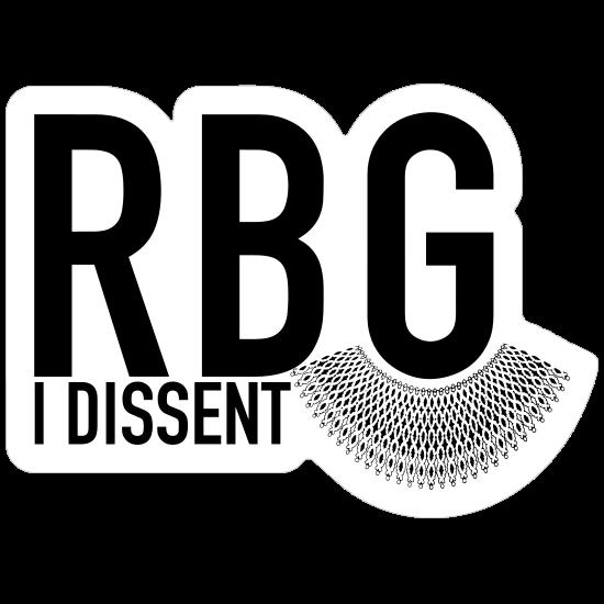 I Dissent RBG Collar Sticker