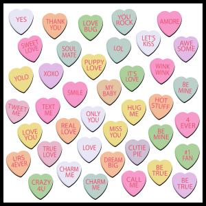 I Heart You - Conversation Hearts Magnet Bundle
