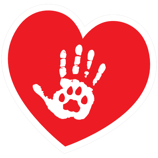 I Love My Cat Heart With Palm And Paw Magnet