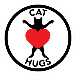 I Love My Cat Hugs With Heart Circle Sticker
