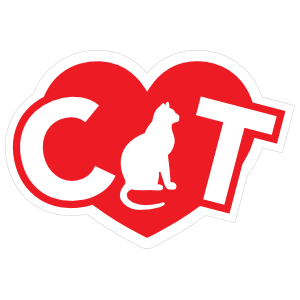 I Love My Cat with Heart and Curly Tail Cat for the A Sticker