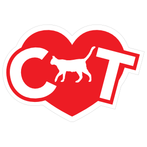 I Love My Cat With Heart And Walking Cat For A Sticker