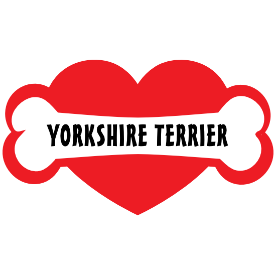 I Love My Dog With Yorkshire Terrier Bone And Heart Magnet