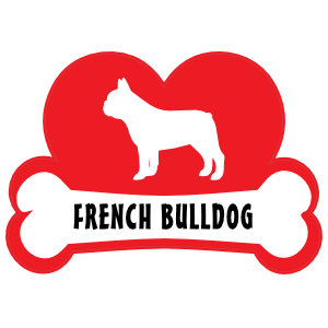 I Love My French Bulldog With Dog Bone And Heart Magnet